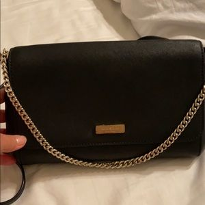 Kate Spase saffiano leather crossbody purse